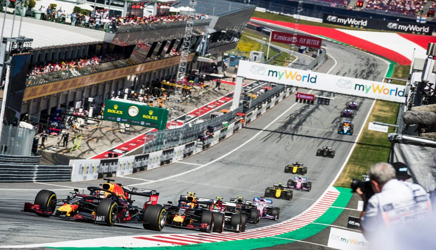 Formel 1 Autos am Red Bull Ring Spielberg
