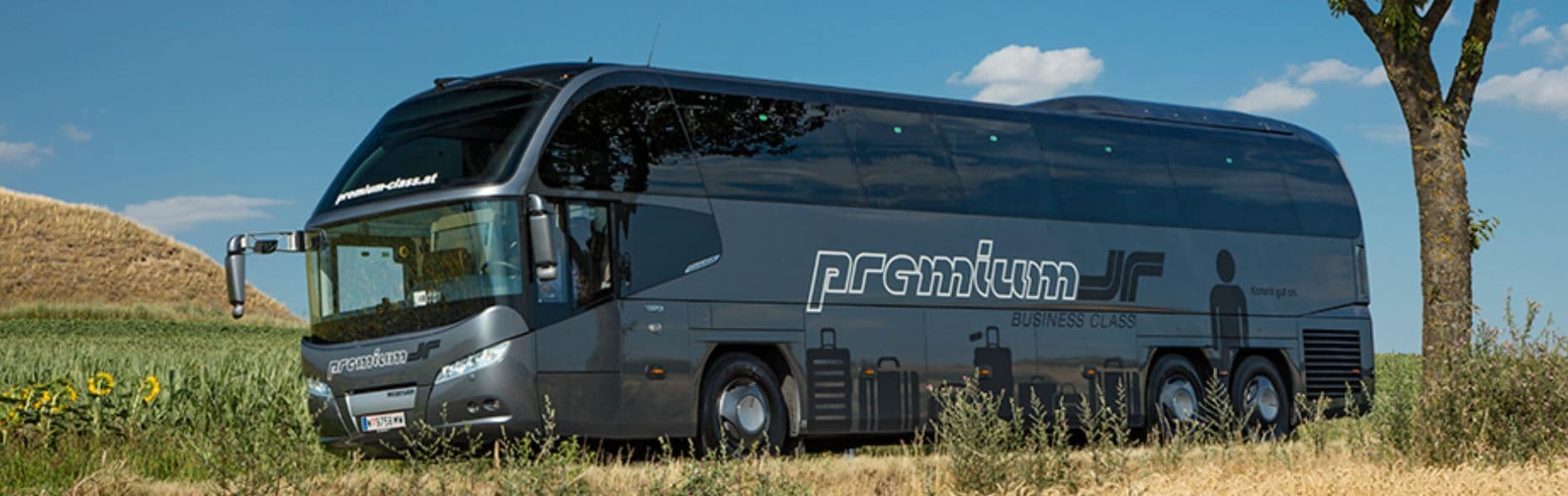 Premium Bus in der Natur